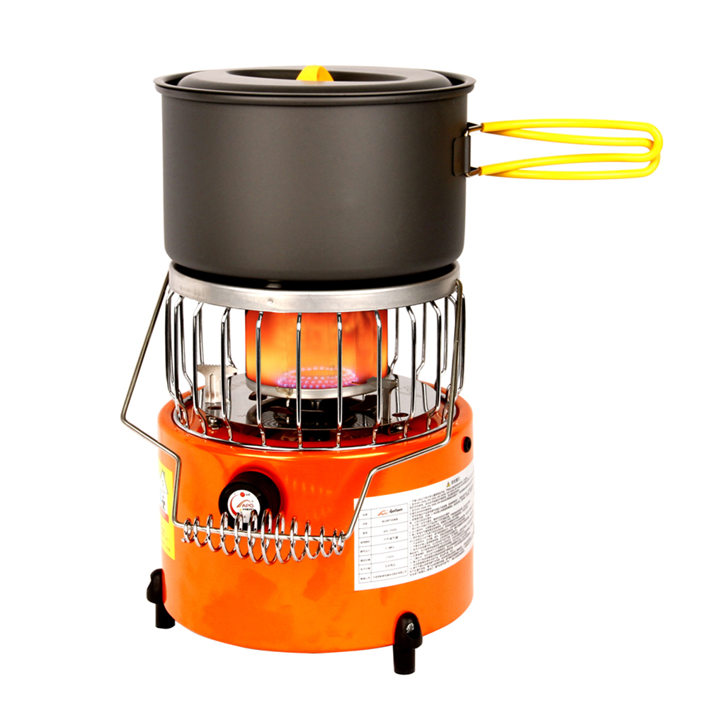2 In 1 2000W Portable Heater Camping Stove Heating Cooker For Cooking Backpacking Ice Fishing Camping