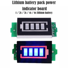 1S - 4S Single 3.7V Lithium Battery Capacity Indicator Module 4.2V Blue Display Electric Vehicle Battery Power Tester Li-ion