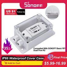 Boîte de jonction étanche Itead SONOFF IP66 compatible avec le commutateur WiFi domestique intelligent sonoff Basic/RF/Pow/Dual/TH10/TH16