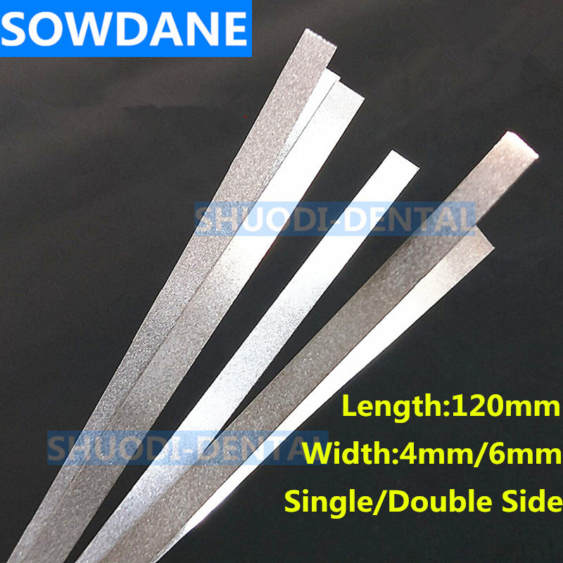 Dental Metal Polishing Stick Strip With Single/Double Side Of Alumina-Plated Sanding Surface Dentist Whitening Materials