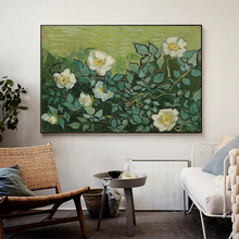 Vincent Van Gogh Wild Roses Oil Painting on Canvas Posters and Prints Cuadros Wall Art Pictures For Living Room van gogh starry night oil painting on canvas posters and prints cuadros wall art decorative pictures for living room home decor