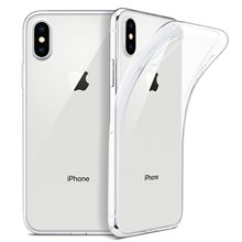 Funda transparente para iPhone 11 XR,funda trasera de silicona suave para iPhone 11 Pro XS Max X 8 7 6s Plus, funda transparente