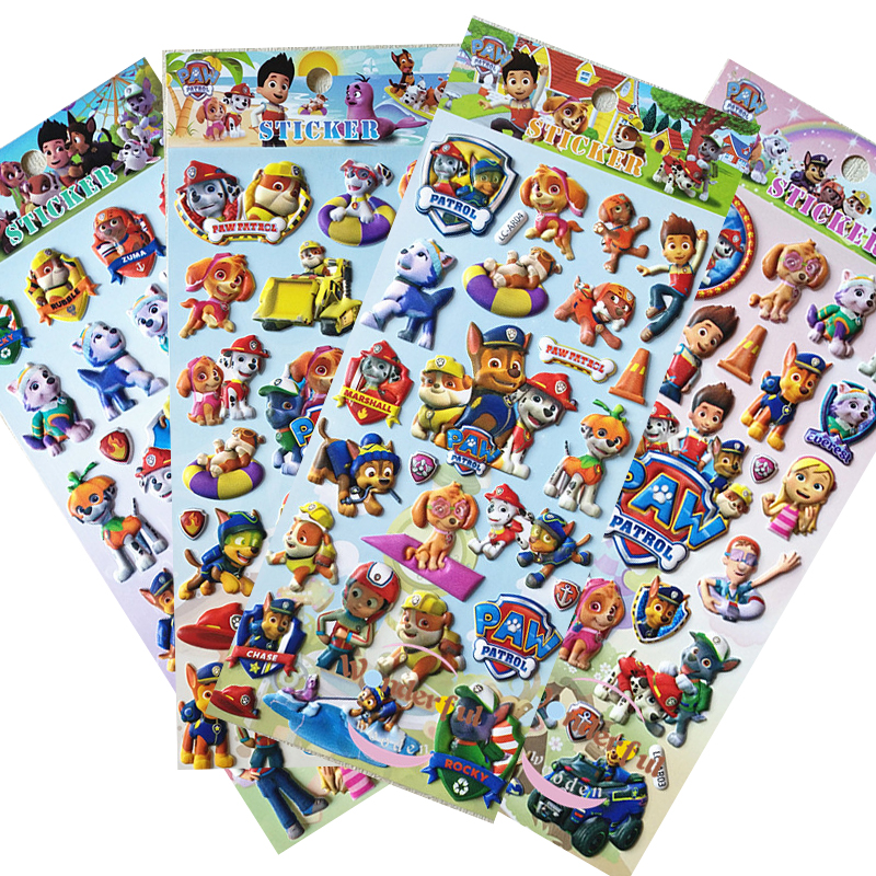 10pcs/set Paw Patrol Dog Stickers Toy Patrulla Canina Action Figures Toy Kids Children Toys Gifts