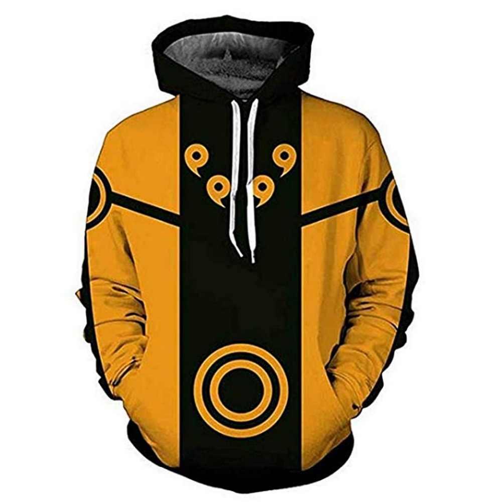 Moda Unsiex bluza z kapturem męska i damska drukuj Anime Naruto Akatsuki bluza z kapturem Cosplay Streetwear dres kaptur z kapturem