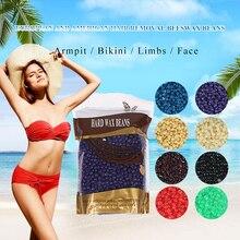 100g/bag rose Flavors Depilatory dots Wax Beans Hot Film Hard honey Pellets Armpit Arm Legs Women Bikini Hair Removal Tool