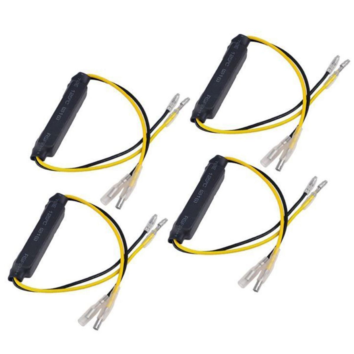 4pcs DC 12.8V 21W Universal Motorcycle Turn Signal Indicator Light LED Load Resistor Decoder Fix Blinker Flash Error Accessories
