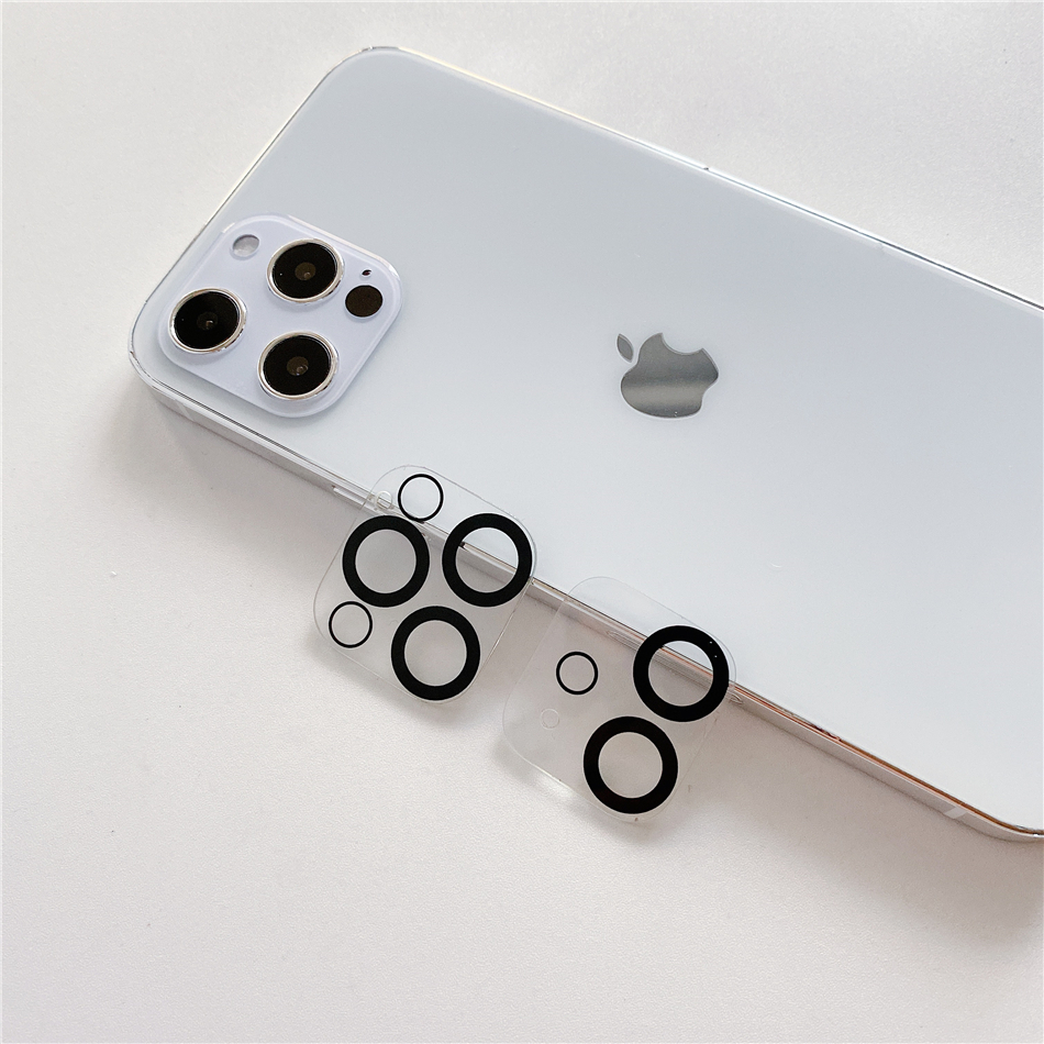 NEW Clear Transparent Lenses Protector For iPhone 11 12 Mini Pro Max Camera Lens Screen Protector Ring Cover Case|Fitted Cases| - AliExpress