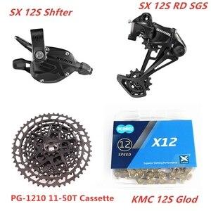 Image 4 - SRAM SX EAGLE 1x12 Speed 11 50T 10 50T Groupset Trigger Shifter Derailleur SX Chain KMC Chain NX 1230 Cassette  SX 1210 Cassette