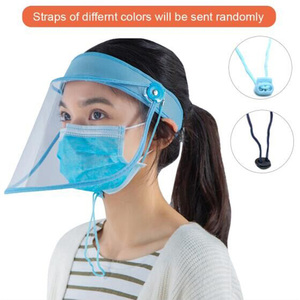 Image 4 - EaseHut אנטי אגל מלא מגן פנים פה מסכת כיסוי כובע אנטי להתיז קוריאני פנים בטיחות מגן שקוף שמש כובע מגן