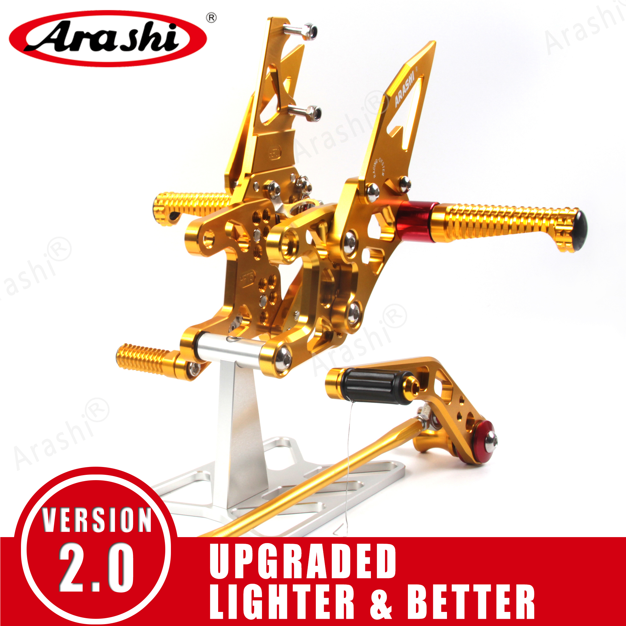 Arashi For HONDA CBR1000RR 2004 - 2017 CNC Adjustable Footrest Rearsets  Foot Peg CBR1000 CBR 1000 RR 2012 2013 2014 2015 2016