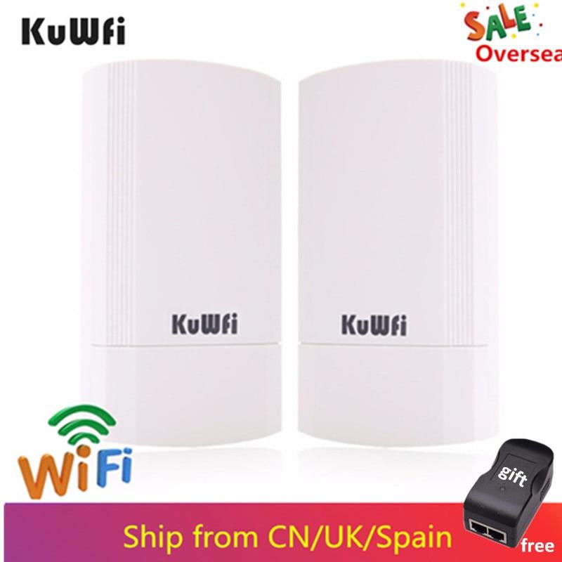 KuWFi 5 450G 150mbps Roteador Sem Fio De Longo Alcance do Roteador Kit Pré-configurado CPE Ao Ar Livre Indoor ponto a ponto 1-3KM de ponte sem fio