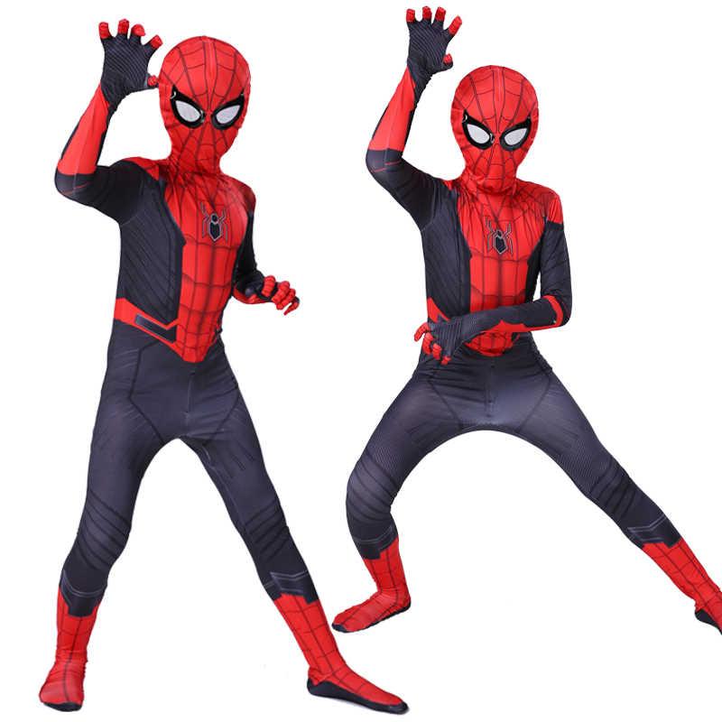 Детский костюм Человека-паука для взрослых, костюм Питера Паркера Гвен, костюм зентай для косплея супергероя-паука, костюм-комбинезон