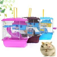 Pet Cage Hamster Cottage with Transparent Skylight Double Layer House for Hamster Golden Hamster Pet|Cages| |  -