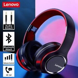 Image 1 - Lenovo HD200 bezprzewodowe słuchawki Bluetooth 5.0 zestaw słuchawkowy Subwoofer sport Running zestaw słuchawkowy Unisex redukcja szumów połączenie wideo
