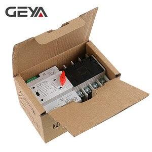Image 5 - Geya din interruptor transferência de potência, frete grátis, 110v 220v, pc, interruptor de transferência automática 63a 100a, uso doméstico, 50/60hz