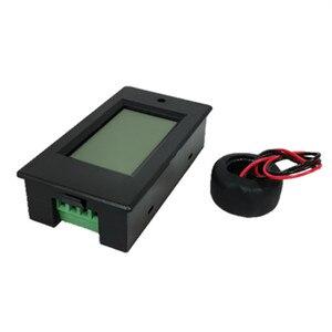 Voltímetro amperímetro digital peacefair, medidor de corrente monofásico ac 80-260v 100a 4in1 para homeuse PZEM-061 com bobina ct