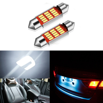 2x Car Led Canbus No Error 36MM C5W LED Lights License Plate Light for Mercedes Benz W211 W203 W204 W208 W210 W209 W169 AMG CLK image