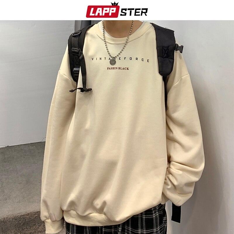 LAPPSTER Men Oversized Colorful Spring Hoodies 2020 Mens Korean Fashions Harajuku Sweatshirts Male Japanese Streetwear Clothing