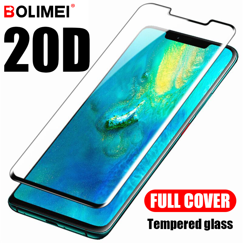 20D Full Cover Tempered Glass On For Huawei Mate 20 10 Lite 30 Pro Screen Protector For Huawei Mate 30 20 Lite X Protective Film