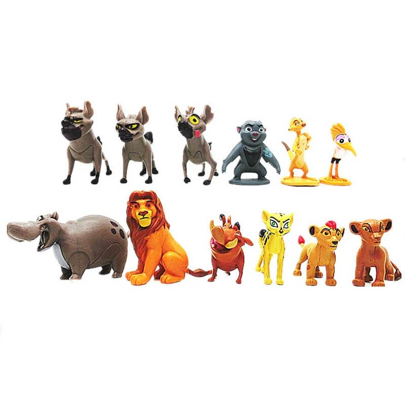 12 Pcs Cartoon The Lion Guard King Kion Simba PVC Action Figures Doll Kids Toys For Children For Children B516