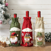 Santa Claus Wine Bottle Cover Merry Christmas Decorations for Home 2019 Christmas Ornament Navidad Natal Gift New Year 2020 E стоимость