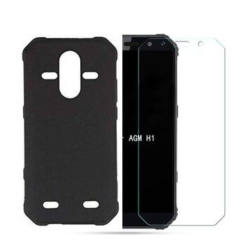 Перейти на Алиэкспресс и купить Для AGM A9 H1, закаленное стекло для AGM A9 Pro, мягкий чехол с полной защитой, чехол с закаленным стеклом для AGM A9 H1