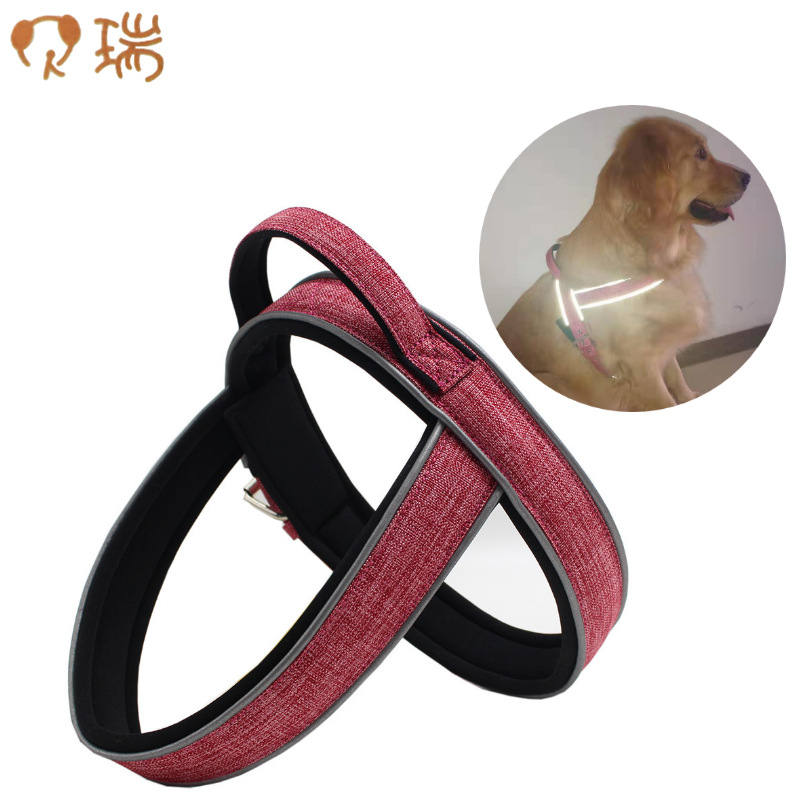 Berry In Large Pet Dog Thoracic Suspender Strap Neoprene Proof Punch Reflective Gallus
