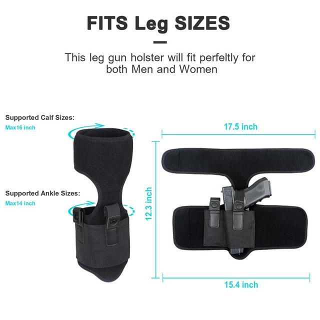 Étui tactique universel pour pistolets dissimulés à la cheville Glock 17 19 22 pochette pour pistolet à main gauche/droite pour tous les pistolets de taille