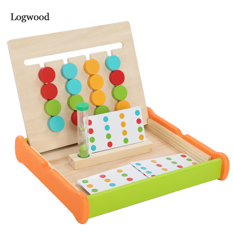 Montessori Education Four Color Game Two Side Wooden Toys Early Learning Toys Children Games Toys Preschool Training Toy