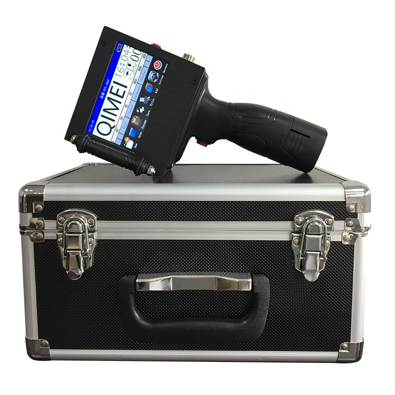 600dpi High Resolution 12.7mm 25.4mm 50mm Date Coding Machine Inkjet Hand Jet Printer