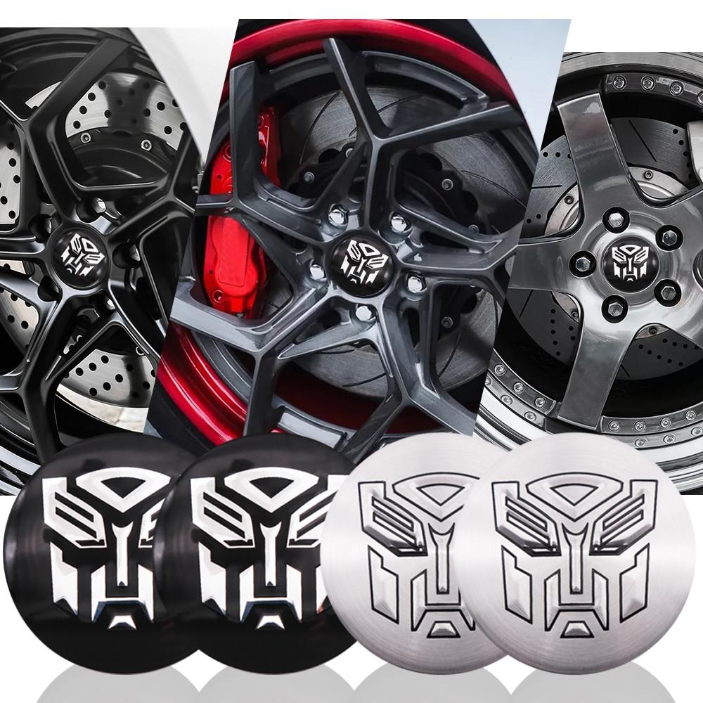 4x 56.5mm Car styling Transformers logo Car Tyre Wheel Center Hub Cap Decepticon Autobots Emblem Decal Badge sticker accessories