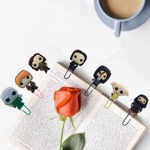 Uds caliente figura de película de PVC marcadores Clips de papel Metal profesor-estudiante punto de libro y de la Oficina de la Escuela de regalo de amigos