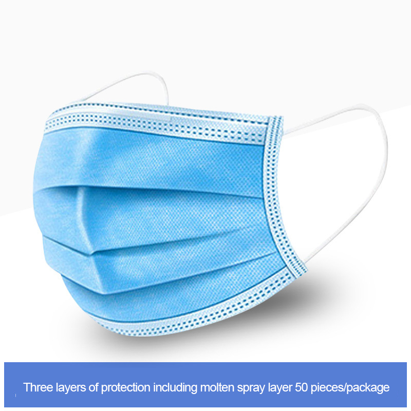 20pcs 3 Layer Disposable Anti-Dust Muffle Dustproof Mask Earhook Face Mouth Masks Facial Protection Cover Masks Care
