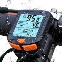 Bicicleta de ciclismo computador sem fio odômetro velocímetro bicicleta alerta alta velocidade cronômetro exibir código tabela com luminoso