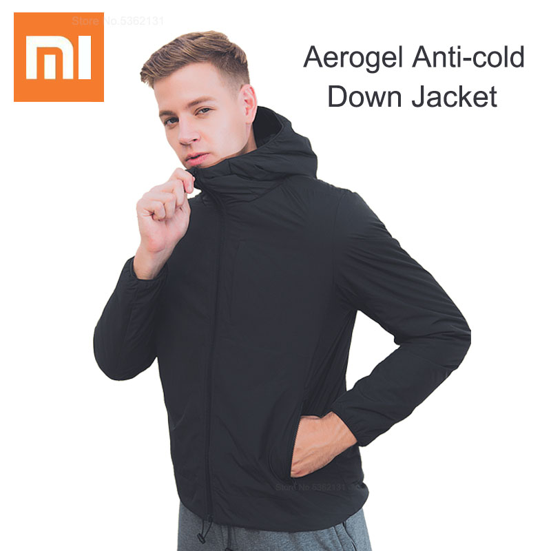 Xiaomi Aerogel Cold Suit Jacket Parka Windproof Waterproof Material Hooded Light Space Suit For Severe Cold Anti-cold Down Coat