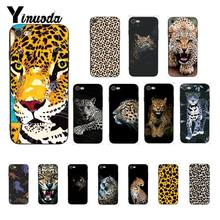 Yinuoda Animal do leopardo Colorido Bonito Caso de Telefone Capa para iPhone 5 8 7 6 6S X XS MAX 5S SE XR 10 11 Pro Max(China)