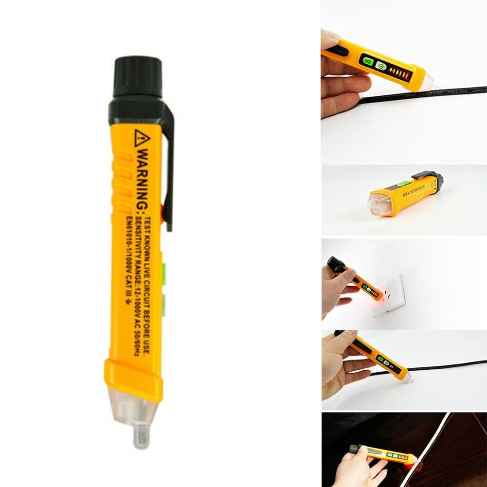 AC/DC Voltage Tester Pen Test Pencil Sensitivity-Electric Compact 12V/48V-1000V S2X2