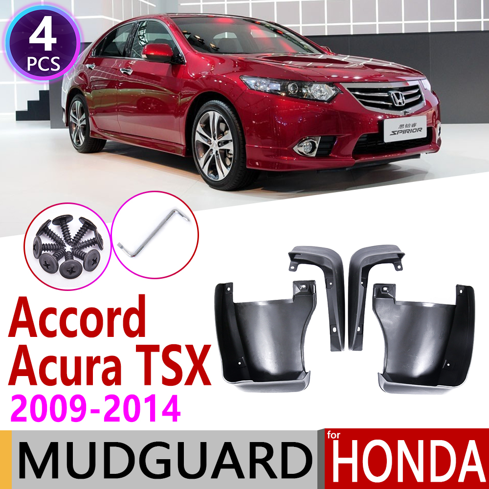 Mudflap for Honda Accord Euro Acura TSX 2009 2014 Fender Mud Guard Flap Splash Flaps Mudguard Accessories 2010 2011 2012 2013