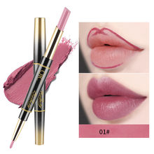 14 Colors Double-end Matte Lipstick Waterproof Lipliner Long Lasting Multi-function Moisturizer Lip Stick Pencil Makeup k2(China)