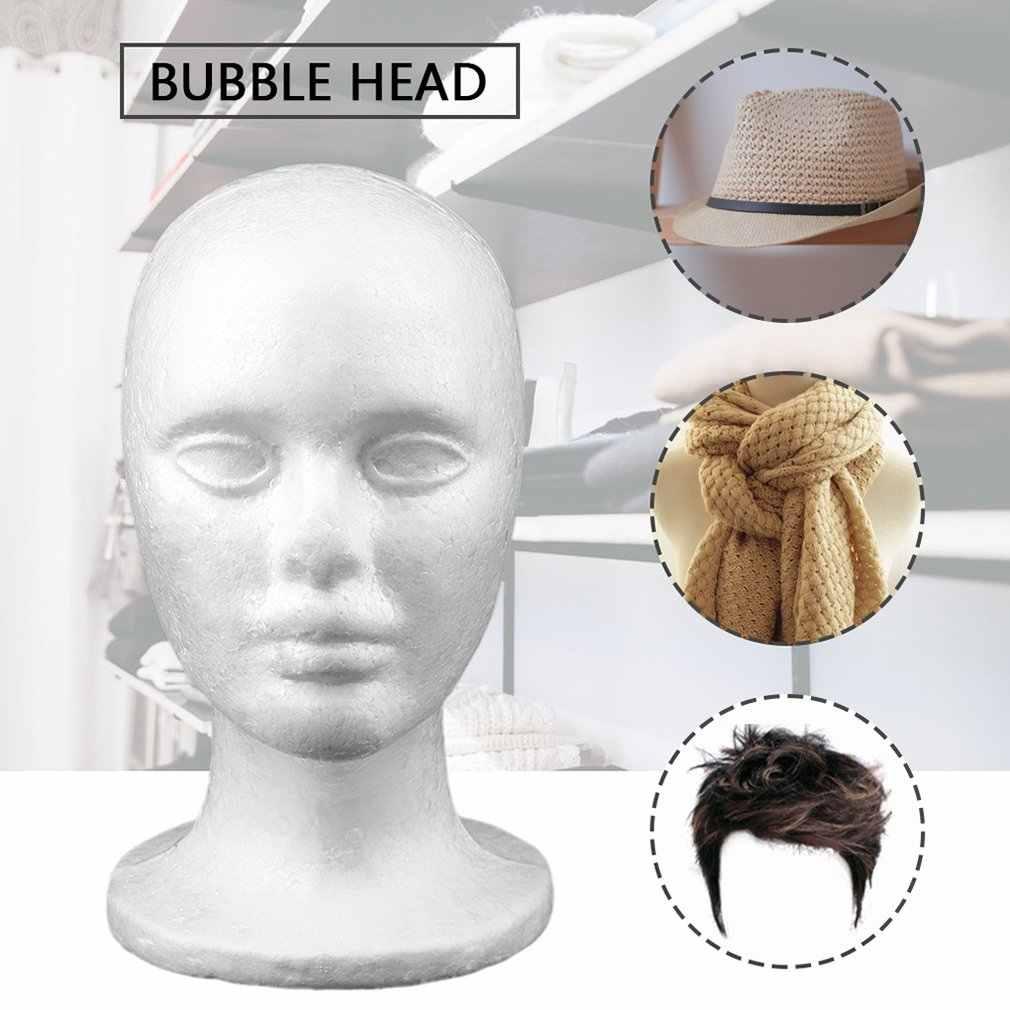 2018 ใหม่ชายสั้นเรียบประเภทหัวชุดวิกผมหมวกแว่นตาหมวกจอแสดงผล Bubble หัวสีขาว