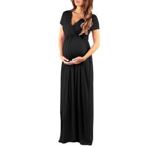 2020 летнее платье для беременных, одежда для грудного вскармливания, повседневные свободные длинные платья, одежда для кормления