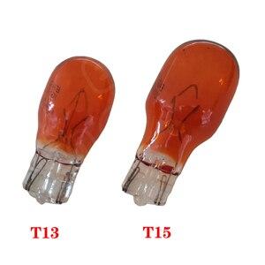 10 шт. Прозрачное Стекло Янтарный T13 10 Вт T15 W16W галогенная лампа 12V 16 Вт интерьера светильник просвет светильник галогенные светильник лампочки автомобильной