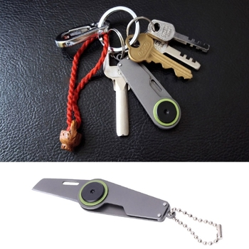 Mini cuchillo de caza plegable táctico de bolsillo, herramienta de cadena de...