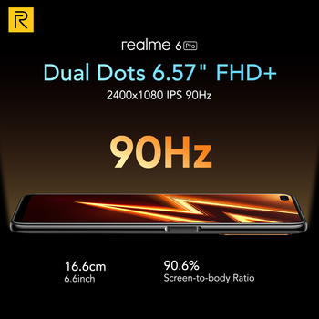 Realme 6 Pro Mobile Phone 6.6inch 90Hz Display 64MP Cam 8GB 128GB Snapdragon 720G Smartphone Cellphone Electronics Mobile Phones