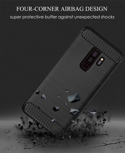 Image 4 - سيليكون قضية الهاتف لسامسونج غالاكسي S9 زائد لينة غطاء من ألياف الكربون الوفير GalaxyS9 SM G965F G960F S9plus S 9 9 Plus SM G960F