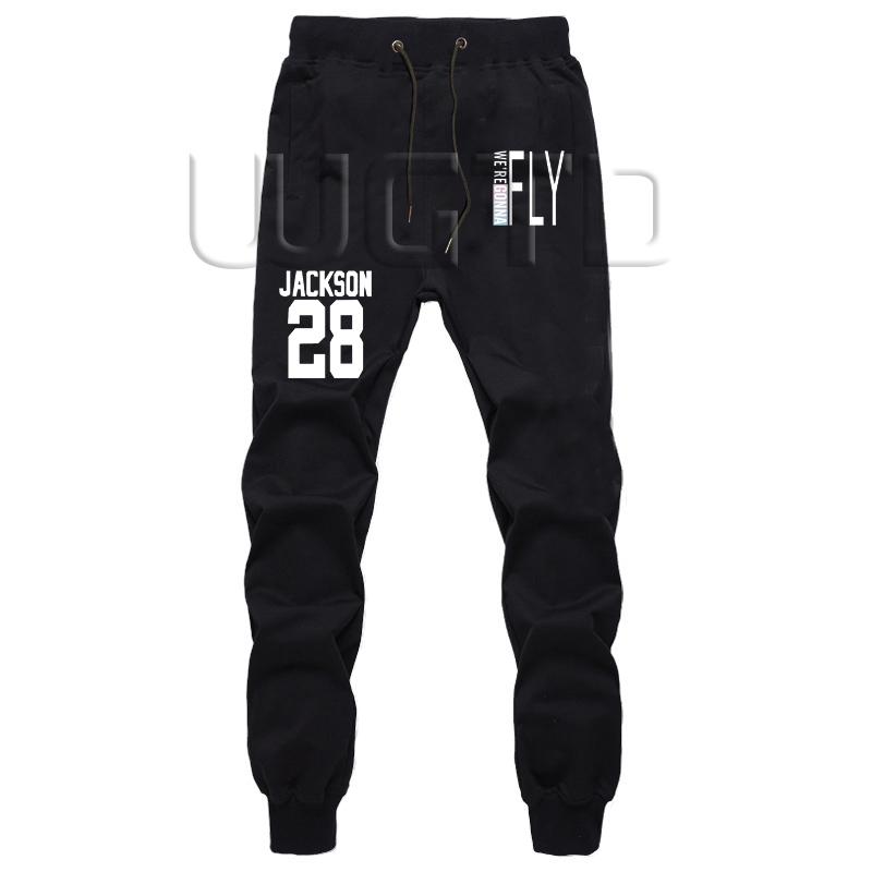 Kpop GOT7 Fly JACKSON JR. YUGYEOM JB  Casual Straight Pants Summer Cartoon Cosplay Jogger Fitness Long Trousers Sweatpants