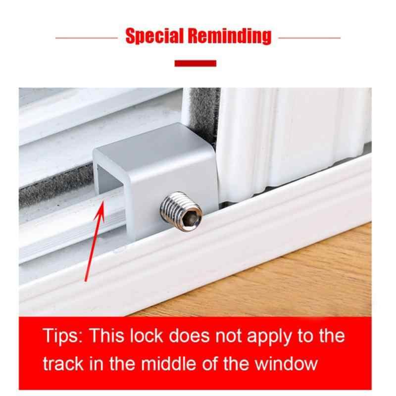 Cerraduras de ventanas correderas ajustables detener la cerradura de seguridad del marco de la puerta de aleación de aluminio con las llaves la cerradura de la ventana de seguridad de la Oficina del hogar 4 Uds