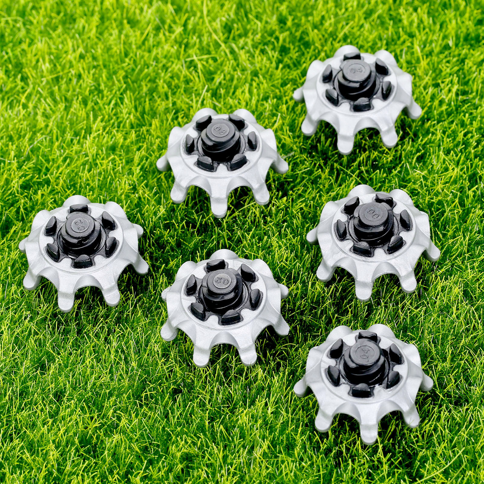 14Pcs TPR Golf Shoe Spikes Replacement Champ Cleats Pins Fast Twist Turn Screw Studs Stinger Golf Accessories Golf Training Aids