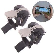 1 пара черный мобильный телефон игровой триггер Кнопка огня для l1r1 шутер контроллер