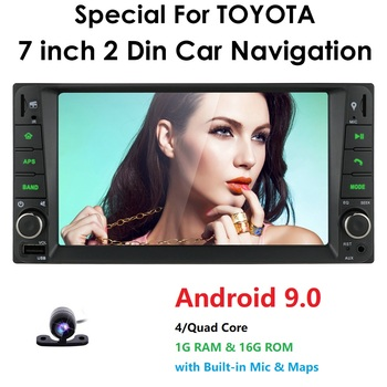 7Android 9.0 Universal Car GPS Navigation For Toyota Terios Avanza Echo Rush Allion Auris Celica Yaris SWC USB SD Card DAB+ DVR image